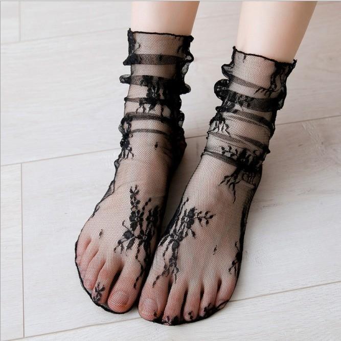 送韩版女士堆堆袜10双